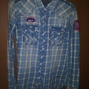 Beautiful womens affliction button up